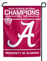 Alabama National Champions Garden Flag