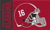 Alabama Crimson Tide Football Helmet Flag