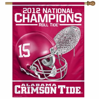 University of Alabama 2012 National Champions Vertical Flag