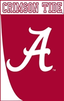 Alabama Crimson Tide Swoosh Applique House Flag