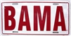 BAMA License Plate