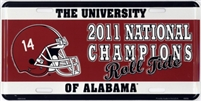 Alabama 2011 National Champions License Plate