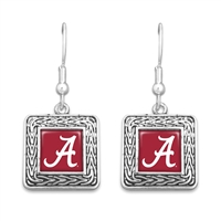 Alabama Crimson Tide Geometric Square Earrings
