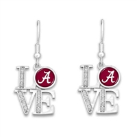 Alabama Crimson Tide Love Pendant Earrings
