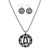 Houndstooth Necklace Earrings Sets