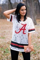 Alabama Crochet Lace Oversized Jersey