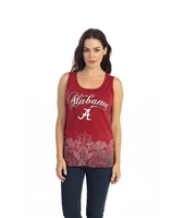 Alabama Border Print Tank