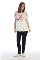 Alabama Ladies Ivory Victorian Shirt