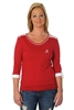 Alabama Crimson Tide Roll-Up Sleeve Top