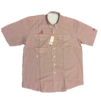 Alabama Crimson Tide Check Fishing Shirt