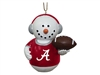 Alabama Crimson Tide Snowman Earmuffs Ornament