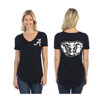 Alabama Crimson Tide Black Elephant Tee