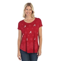 Alabama Crimson Tide Lace Dolman Tee