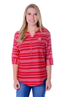 Alabama Crimson Tide Stripe Tunic Top