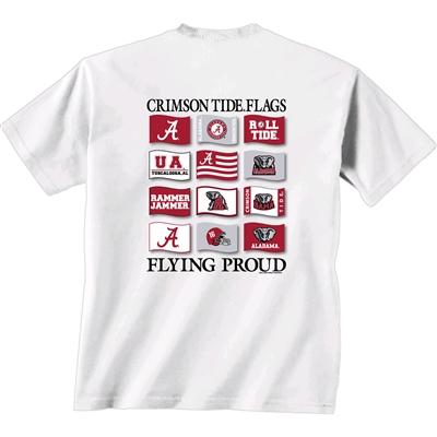 Alabama crimson tide flags t shirt alabama flags t shirt for Alabama crimson tide tee shirts