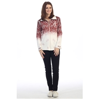 Alabama Crimson Tide All Over Ombre Zippered Jacket