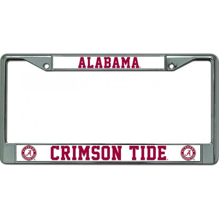 Alabama Crimson Tide Chrome License Plate Frame | Alabama License ...