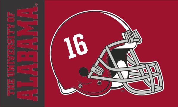 the best attitude 12c58 cf805 Alabama Crimson Tide Football Helmet Flag