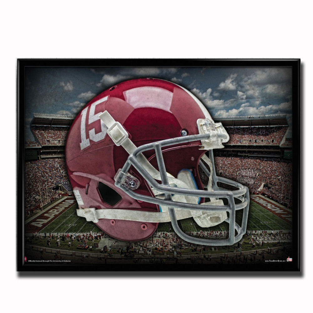 buy popular 90502 cd1b4 Alabama Crimson Tide Head Gear Poster