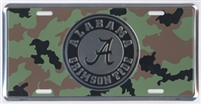 Alabama Crimson Tide Camouflage License Plate