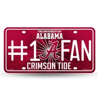 Alabama Crimson Tide #1 Fan Glitter License Plate