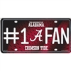 Alabama Crimson Tide #1 Fan Metal License Plate