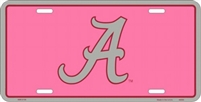 University of Alabama Pink License Plate