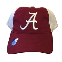Alabama Crimson Tide White Mesh Back Cap