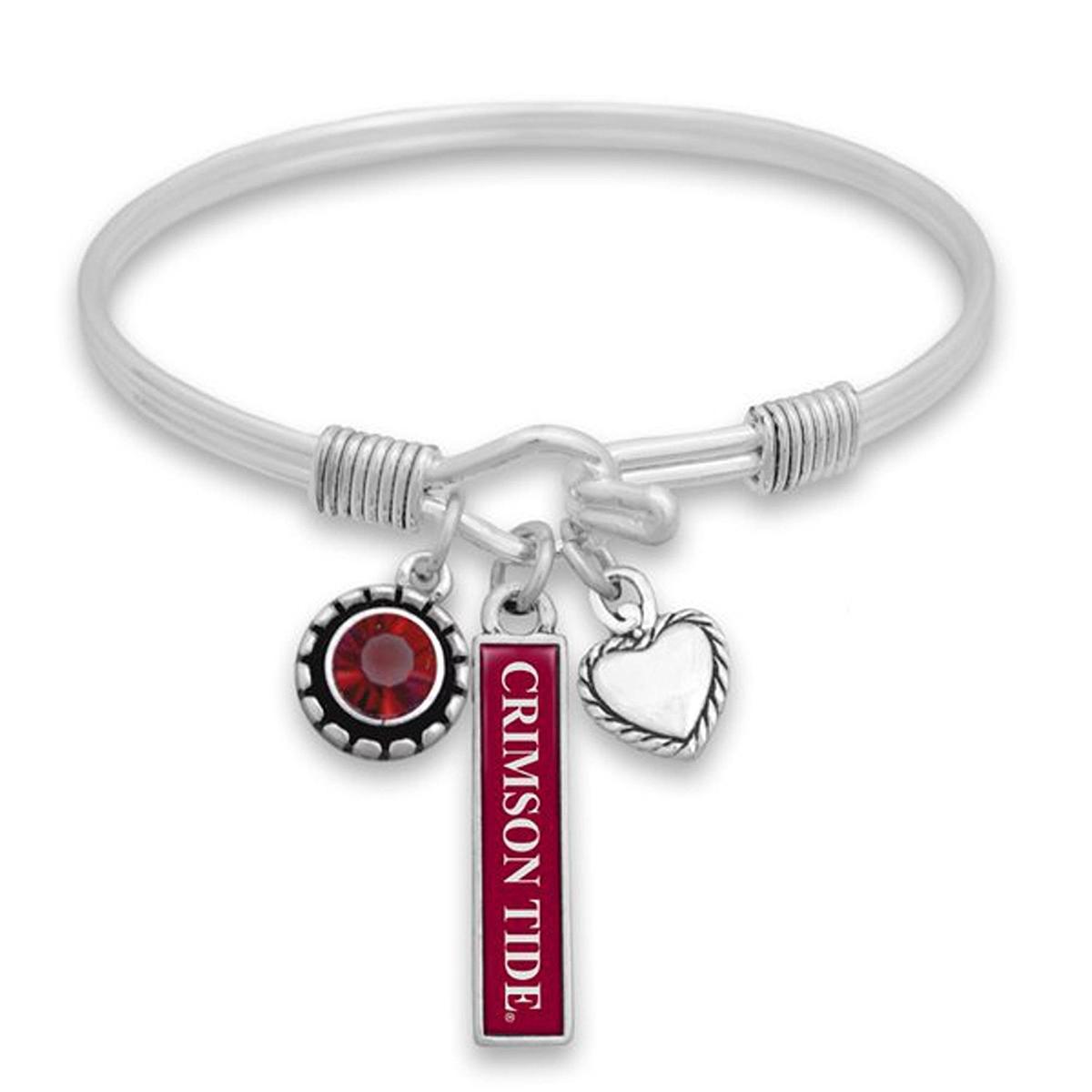 Alabama Charm Bracelet: Alabama Crimson Tide Triple Charm Bracelet