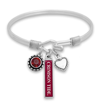 Alabama Crimson Tide Triple Charm Bracelet