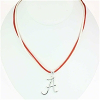 Alabama Ladies Double Satin Cord Necklace