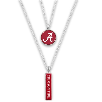 Alabama Crimson Tide Double Charm Necklace