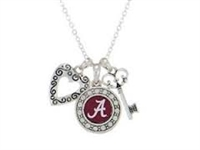Alabama Crimson Tide Tri-Charm Necklace