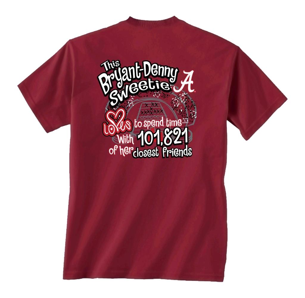 Alabama Girl Stadium T Shirt Alabama Bryant Denny: alabama sec championship shirt