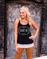 Alabama Lace Trim Crochet Tank