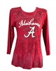 Alabama Crimson Tide Paisley Print Sleeve Shirt