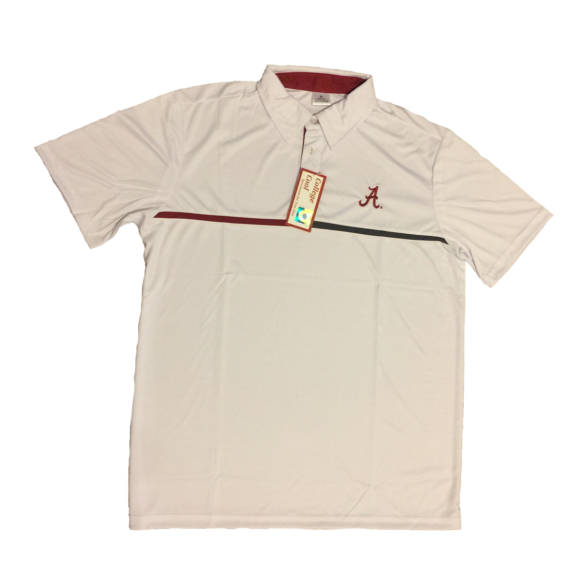Alabama Crimson Tide White Polo Bama White Polo Alabama Crimson