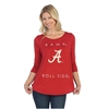 Alabama Crimson Tide Power Logo Print Shirt